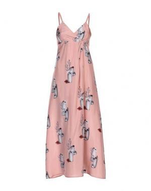 Длинное платье ATTIC AND BARN. Цвет: телесный