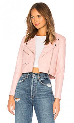 Кожаная куртка mercy Understated Leather. Цвет: розовый