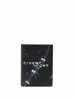 Складной картхолдер с логотипом Givenchy. Цвет: черный