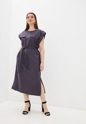 Платье Electrastyle. Цвет: фиолетовый