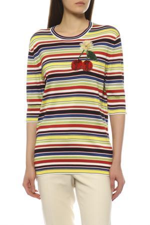 Пуловер Dolce&Gabbana. Цвет: желтый, белый, синий, красный