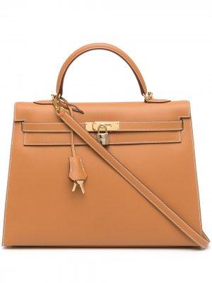 Сумка Kelly 35 Sellier 2003-го года Hermès. Цвет: коричневый