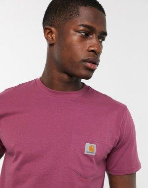 Ярко-розовая футболка с короткими рукавами Carhartt-Розовый Carhartt WIP