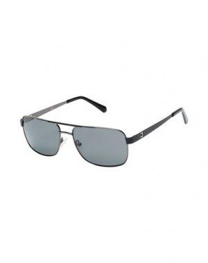 Солнечные очки GUESS. Цвет: стальной серый