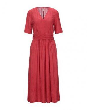 Платье длиной 3/4 DES PETITS HAUTS. Цвет: красный