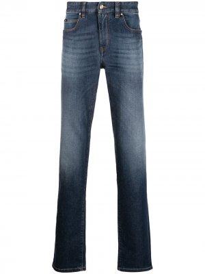 Прямые джинсы средней посадки Z Zegna. Цвет: синий