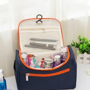 Туристическая косметическая сумка для хранения с крючком 1 пакет SHEIN. Цвет: многоцветный