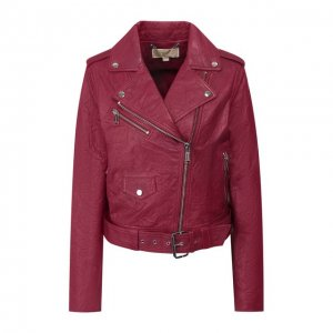Кожаная куртка MICHAEL Kors. Цвет: красный