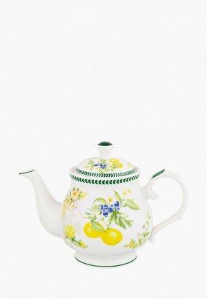 Чайник заварочный Elan Gallery 430 мл Лимоны. Цвет: белый