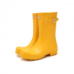 Резиновые сапоги Hunter. Цвет: жёлтый