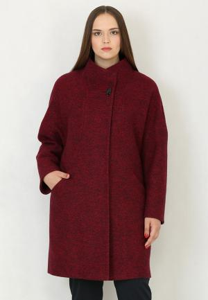 Пальто Trifo. Цвет: бордовый