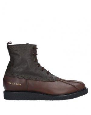 Полусапоги и высокие ботинки COMMON PROJECTS. Цвет: темно-коричневый