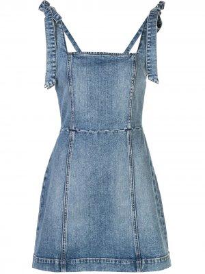 Джинсовое платье Maryann Alice+Olivia. Цвет: синий
