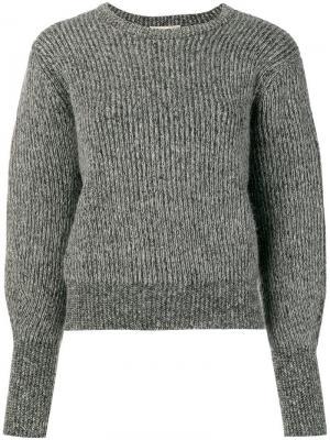Пуловер с ребристой фактурой Maison Kitsuné. Цвет: черный