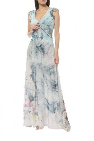 Платье Anna Rachele. Цвет: голубой