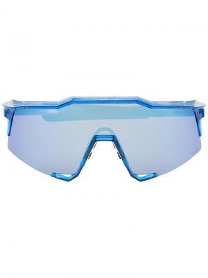 Солнцезащитные очки SpeedCraft 100% Eyewear. Цвет: синий