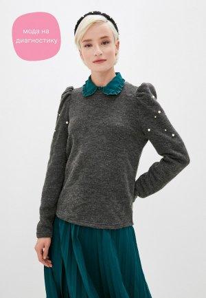 Джемпер Jacqueline de Yong. Цвет: серый