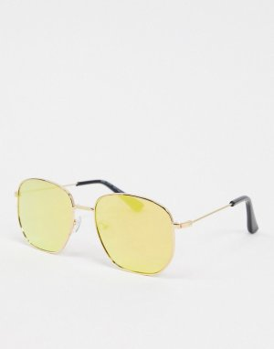 Желтые солнцезащитные очки -Желтый New Look