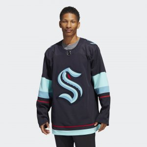 Оригинальный хоккейный свитер Kraken Home Performance adidas. Цвет: синий