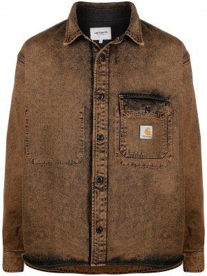 Джинсовая куртка с нашивкой-логотипом Carhartt WIP. Цвет: коричневый
