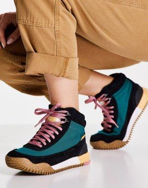 Черные и зеленые тканые ботинки Back To Berkley III-Зеленый цвет The North Face