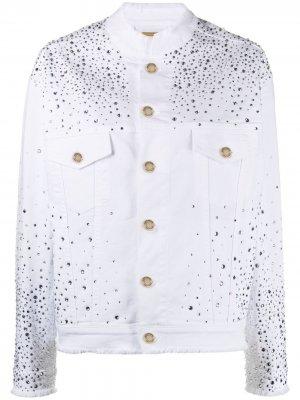 Декорированная джинсовая куртка Alexandre Vauthier. Цвет: белый