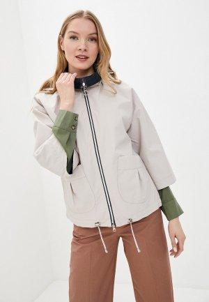 Куртка Снежная Королева. Цвет: бежевый
