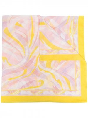 Саронг с принтом Vetrate Emilio Pucci. Цвет: розовый