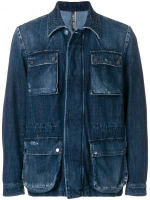 Джинсовая куртка с накладными карманами Jacob Cohen. Цвет: синий
