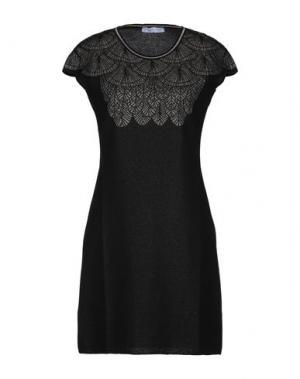 Короткое платье PARAKIAN. Цвет: черный