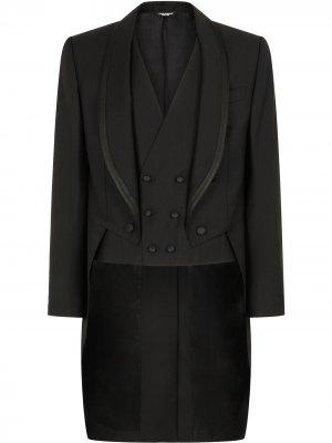Костюм-тройка Dolce & Gabbana. Цвет: черный