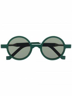 Солнцезащитные очки в круглой оправе VAVA Eyewear. Цвет: оранжевый