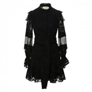 Платье с поясом Alexis. Цвет: чёрный
