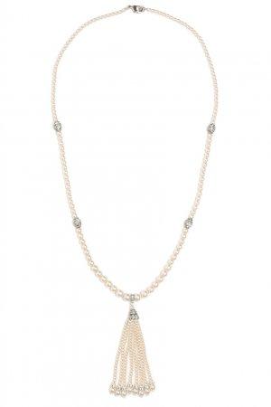 Колье из жемчуга и посеребренного олова Ben-Amun. Цвет: белый