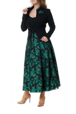 Комплект с юбкой Mannon. Цвет: черный, зеленый