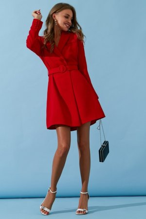Платье-пиджак TOPTOP STUDIO. Цвет: красный