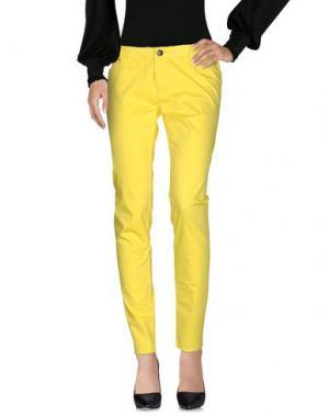 Повседневные брюки LEROCK. Цвет: желтый
