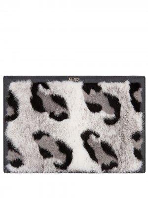 Чехол для ноутбука с леопардовым принтом Fendi. Цвет: f036n-multicolor+черный
