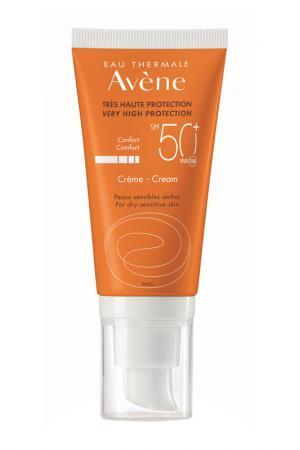 Солнцезащитный крем spf 50 AVENE. Цвет: белый