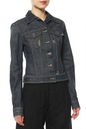 Куртка джинсовая Dondup. Цвет: синий, варка