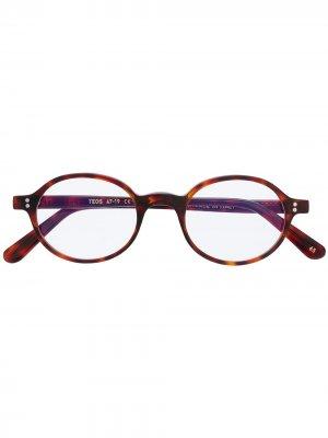 Солнцезащитные очки в круглой оправе L.G.R. Цвет: коричневый