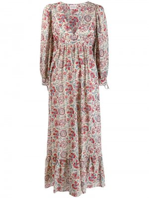 Платье макси с цветочным принтом Antik Batik. Цвет: бежевый