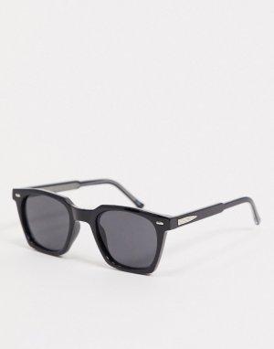 Квадратные солнцезащитные очки в черной оправе BC2-Черный Spitfire