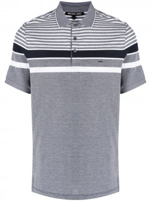 Рубашка поло с контрастными полосками Michael Kors Collection. Цвет: синий