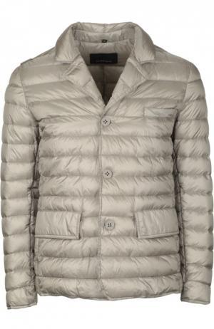 Пуховая куртка с отложным воротником [C]Studio. Цвет: серый