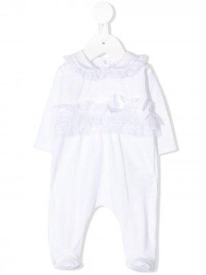 Пижамный комбинезон с воротником Питер Пэн Aletta. Цвет: белый