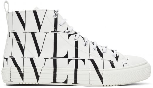 White VLTN High Sneakers Valentino Garavani. Цвет: a01bianco-n