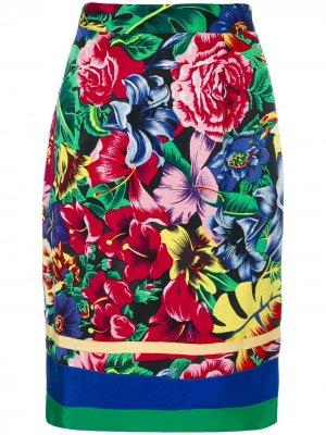 Юбка с цветочным принтом Versus Pre-Owned. Цвет: разноцветный