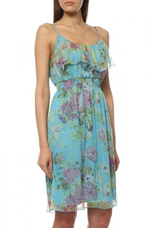 Блуза Rene Derhy. Цвет: голубой