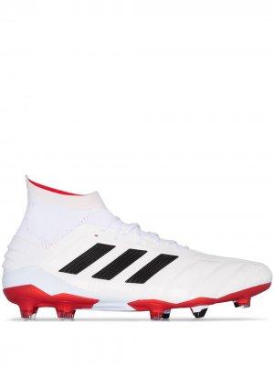 Бутсы Predator 19.1 adidas. Цвет: белый